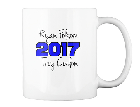 Ryan Folsom Troy Conlon White T-Shirt Back