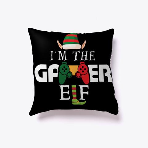 I'm The Gamer Elf Matching X Mas T Shirt Black T-Shirt Front