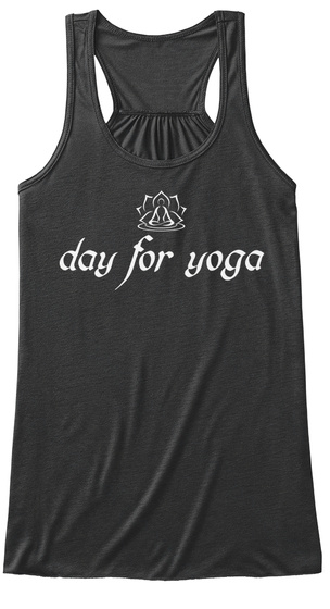 Day For Yoga Dark Grey Heather T-Shirt Front