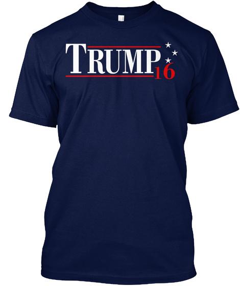 Trump 16  Navy T-Shirt Front