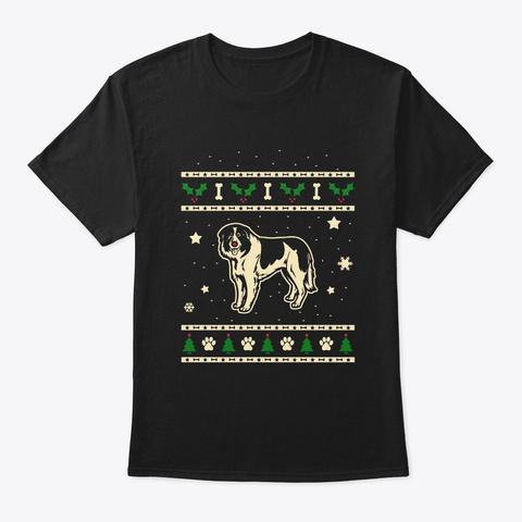 Christmas Bucovina Shepherd Gift Black T-Shirt Front