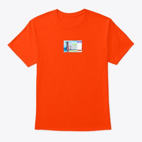 Keto Tonic Orange T-Shirt Front