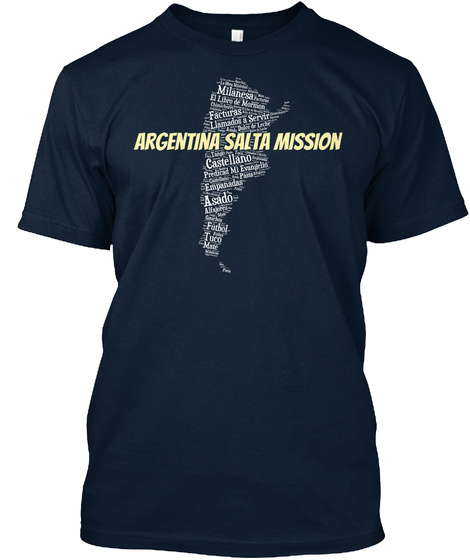 Argentina Salta Mission New Navy áo T-Shirt Front