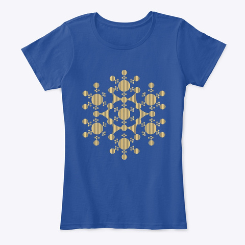 Crop Circles Deep Royal  T-Shirt Front