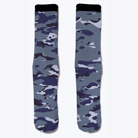 Military Camouflage   Naval Blue Standard T-Shirt Front