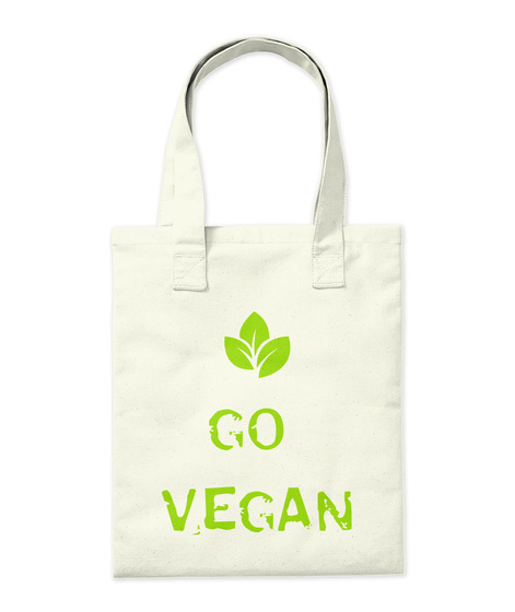 Go Vegan Natural T-Shirt Back