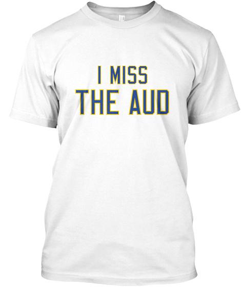 Naming Wrongs: Aud (White) White T-Shirt Front
