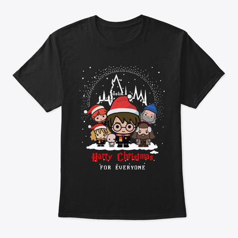 Harry Christmas For Everyone Shirt Black T-Shirt Front