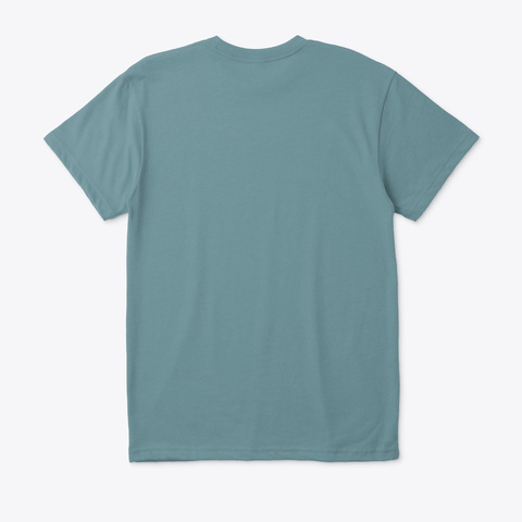 Trans Bass Heather Pacific T-Shirt Back