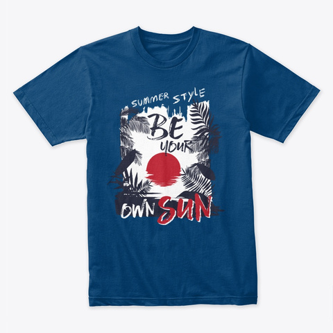 Be Your Own Sun! Cool Blue T-Shirt Front