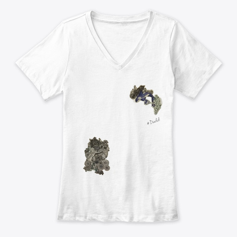 Willow Dance Sea And Flowers White T-Shirt Front