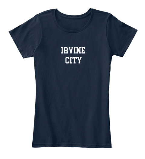 Irvine Hometown New Navy T-Shirt Front