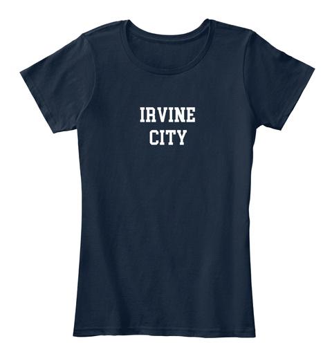 Irvine Hometown New Navy T-Shirt Front
