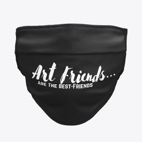 Art Friends Black  Black T-Shirt Front