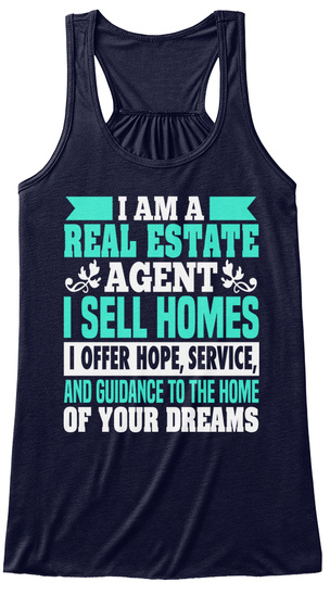 I Am A Real Estate Agent I Sell Homes I Offer Hope, Service, And Guidance To The Home Of Your Dreams Midnight Maglietta Front