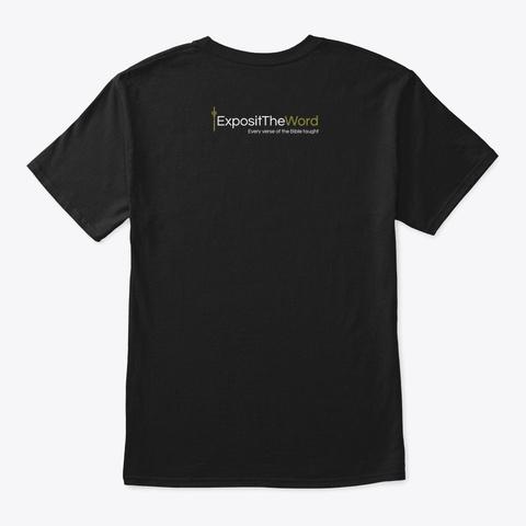 Exposit The Word Brand New Logo Design Black T-Shirt Back