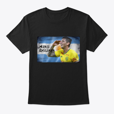 Emiliano Soccer Black T-Shirt Front
