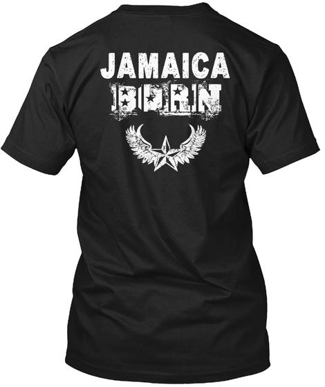 Jamaica Born Black T-Shirt Back