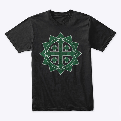 Cross Of Suffering Catholic T Shirt Black T-Shirt Front