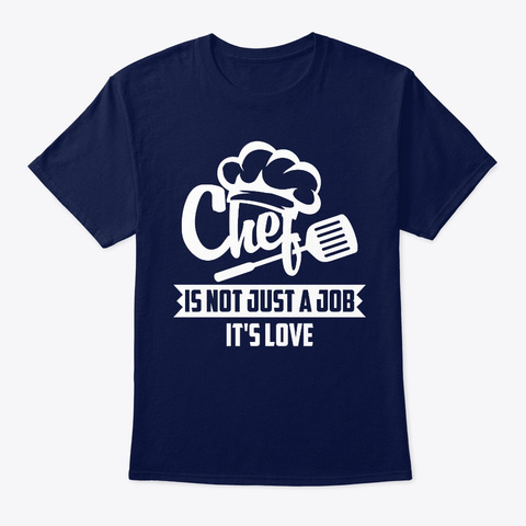 Nice Chef T Shirts Funny.Chef Tee Shirts Navy T-Shirt Front