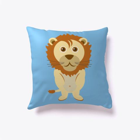 Leo Lion Pillow Light Blue T-Shirt Front