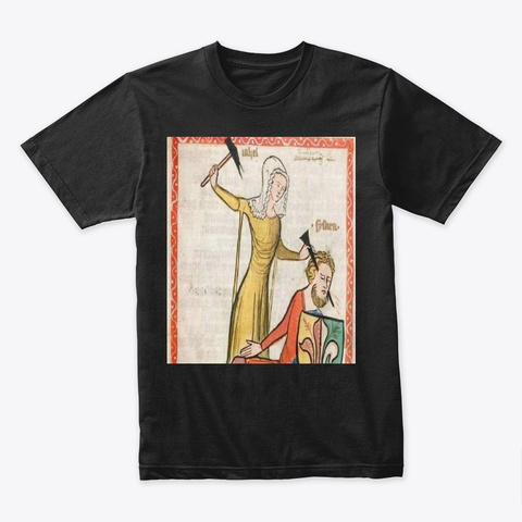 Medieval Art  Black T-Shirt Front