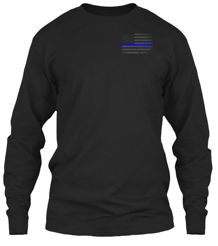 Thin-Blue-Line-Flag-Unisex-Gildan-Long-Sleeve-Tee-T-Shirt thumbnail 6
