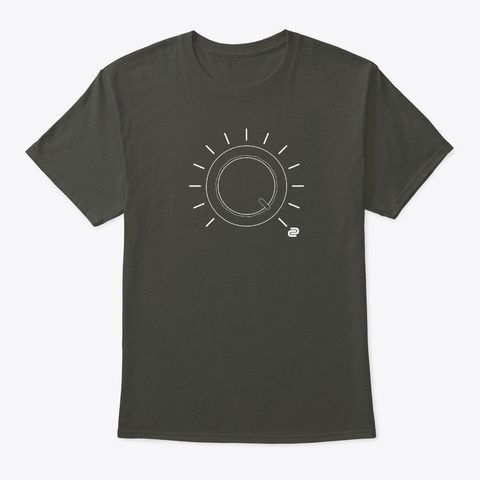 Full Volume Dc Smoke Gray T-Shirt Front