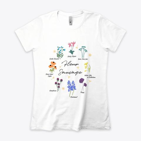 Wildflower White T-Shirt Front