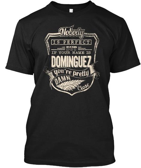 Dominguez Black T-Shirt Front