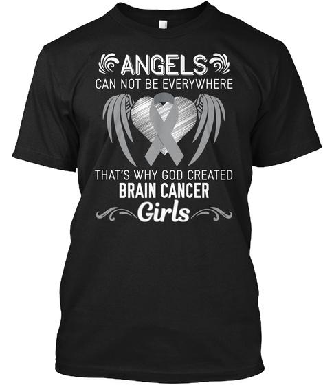 Angels Girls | Brain Cancer Black T-Shirt Front