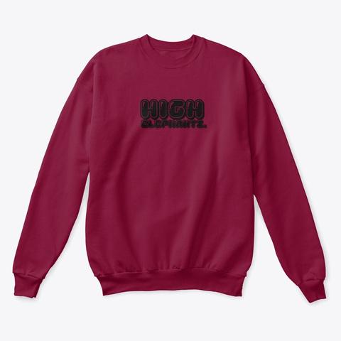 High Roller Collection. Cardinal  T-Shirt Front