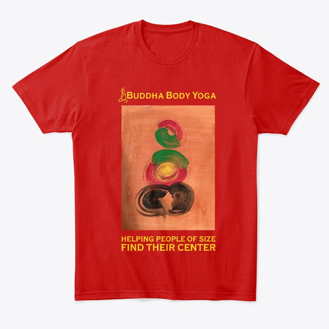 Buddha Body Yoga Center Tee Classic Red T-Shirt Front