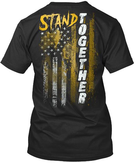 Stand Together Black T-Shirt Back