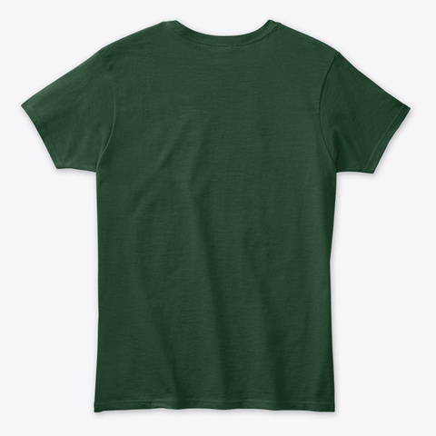 I Have Mixed Drinks About Feelings Forest Green T-Shirt Back