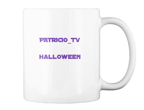 Patricio Tv Halloween White T-Shirt Back