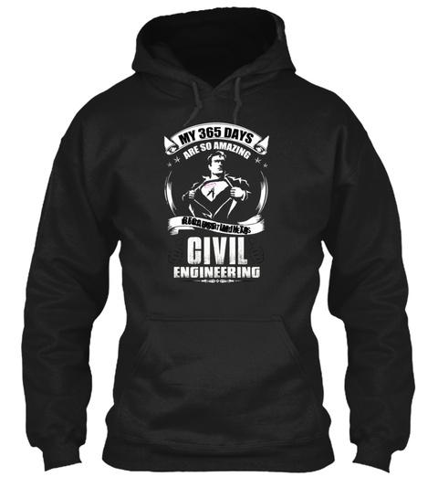 Civil Engineering Black Sweatshirt Front
