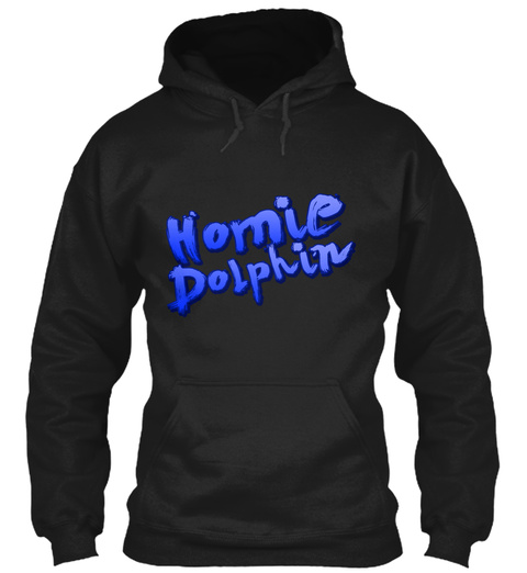Homie Dolphin Black T-Shirt Front