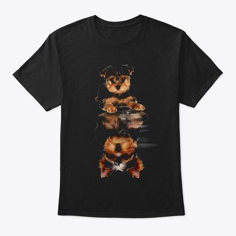 Yorkshire Terrier 1 Black T-Shirt Front