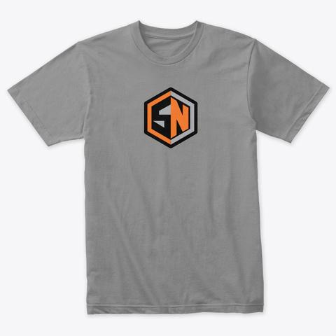 Shop Nation Block Logo Tee Premium Heather T-Shirt Front