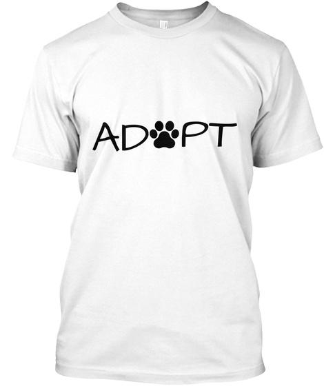 Adopt White T-Shirt Front