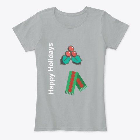Happy Holidays Grey T-Shirt Front