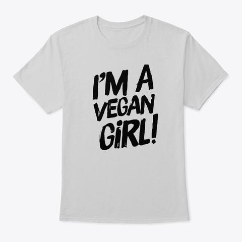 Vegan Girl Light Steel T-Shirt Front