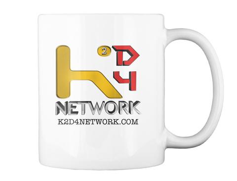 K2d4 Network K2d4network.Com White T-Shirt Back
