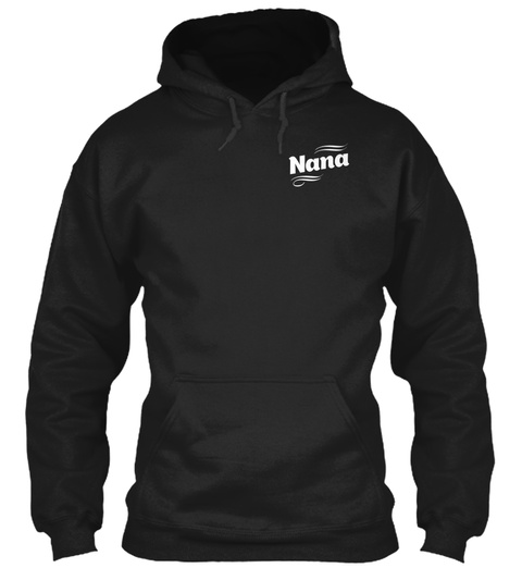 Nana Black Sweatshirt Front