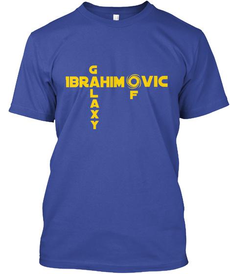 G Vic Ibrahim     L F A X Y Deep Royal T-Shirt Front