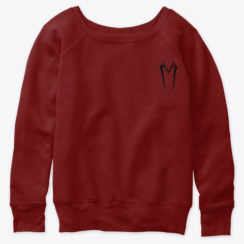 Violin Shredder Women's Dark Red Triblend T-Shirt Front