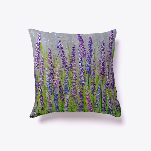 Lavender Flower Fields White Kaos Front