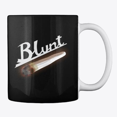 Blunt Vibe Coffee Mug Black T-Shirt Back