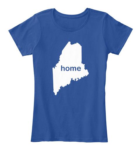 Home Deep Royal  Women's T-Shirt Front
